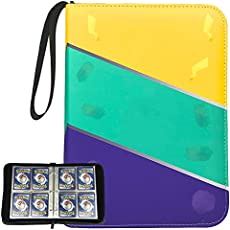 KIXDA 480 Cards Binder for Pokemon, 4-Pokect Collectible Display Storage Album for Trading Cards, for Playing Cards Games Collector (Not Included Cards)