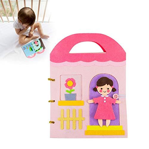 per Libros Blandos de Material Montessori Tableros de Aprendizaje Conocer Objetos Libros de Bricolaje para Bebés de 1-3 Años