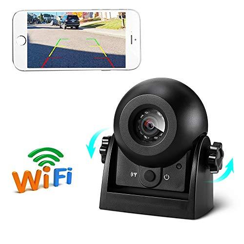 Auto Rückfahrkamera Rilitor WiFi Rückfahrkamera Wasserdicht IP68 Kabellose Backup AutoKamera mit intelligenter APP kompatibel mit Android und iPhone Nachtsicht für Kfz SUV Van Anhänger