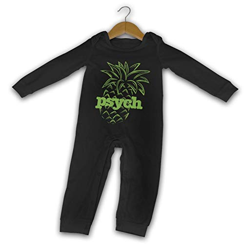WushXiao Psych-Pineapple Long Comfort Baby Crawler schwarz Gr. 6 Monate, Schwarz