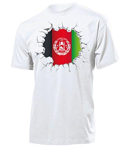 Afghanistan Fanshirt Fussball Fußball Trikot Look Jersey Herren Männer t Shirt Tshirt t-Shirt Fan Fanartikel Outfit Bekleidung Oberteil Hemd Artikel