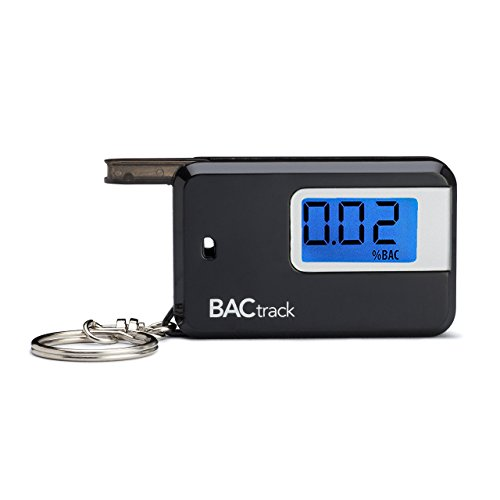 Lowest Prices! BACtrack Go Portable Keychain Breathalyzer Personal Breath Alcohol Tester - Black