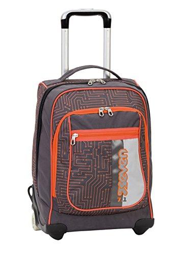 2en1 Sac à dos Trolley SEVEN – CIRCUIT - orange gris - Bretelles qui se cachent! 37 LT école et voyage nouveau
