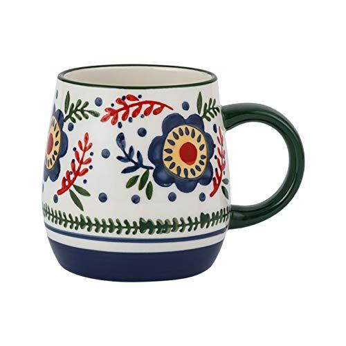HCYSNG Tazas de cerámica pintadas a Mano Tazas de impresión Creativa Personalizadas Taza de Agua para el hogar Taza de Leche Taza de café de Oficina (Color : 1)