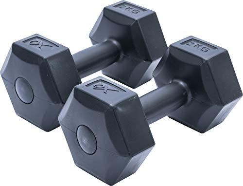 XQ Max - Mancuernas de 2 kg de cemento, 2 unidades, color negro