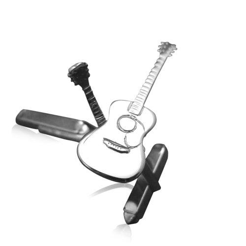 Silver-Guitar-Cufflinks Silver-Acoustic-Guitar-Cufflinks