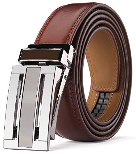 KAERMU Gürtel Herren,Ledergürtel Herren Ratsche Automatik Gürtel für Männer 30mm Breit (Style 1, Länge 130cm Geeignet für 28