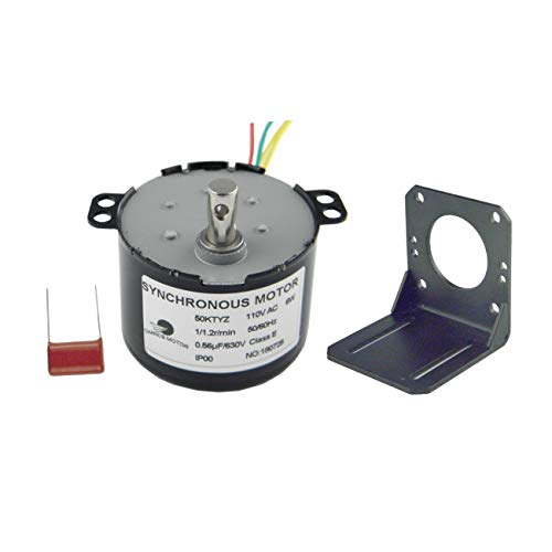 CHANCS Permanent Magnet Synchronous Motor 50KTYZ 110V 1-1.2RPM Micro AC Motor With Bracket