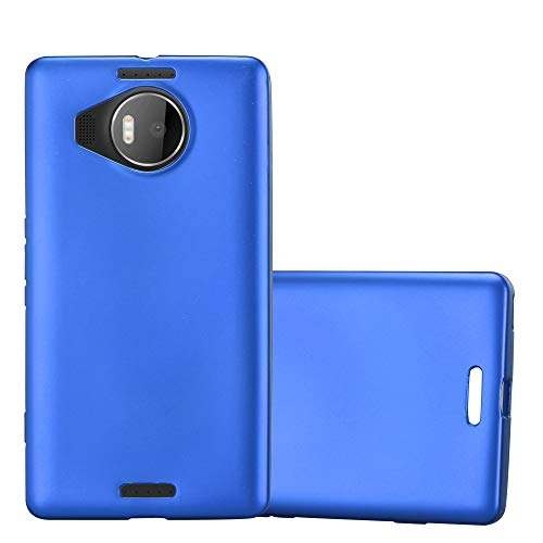 Cadorabo Hülle für Nokia Lumia 950 XL in METALLIC BLAU - Handyhülle aus flexiblem TPU Silikon - Silikonhülle Schutzhülle Ultra Slim Soft Back Cover Hülle Bumper