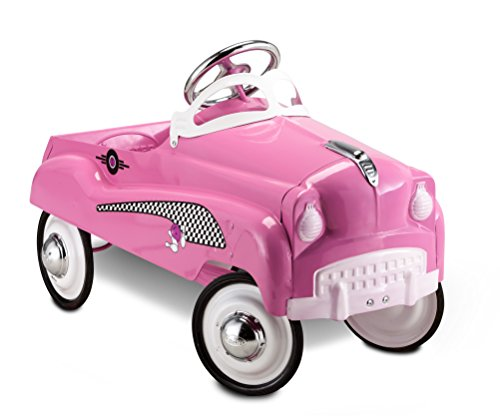 Instep Kids Toy Pedal Car, Toddler Push and Ride On Toy, Pink Lady