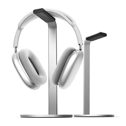 elago H Stand [Silver] - [Premium Aluminum][Scratch-Free Padding][Perfect Height][Compatible with AirPods Max and All Headphones][Modern Design] Gaming and Audio Headphones