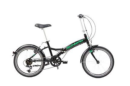 F.lli Schiano Pure Bicicleta Plegable, Unisex-Adult, Negro-Verde, 20''