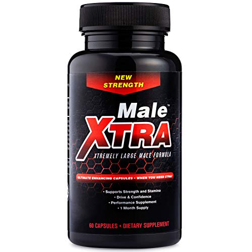 Male Xtra Natural Performance Pill - Energy Booster - Horny Goat Weed - L Arginine - Saw Palmetto - Extra Select Ingredients - Increase Strength and Endurance - USA Made Non GMO 60 Capsule