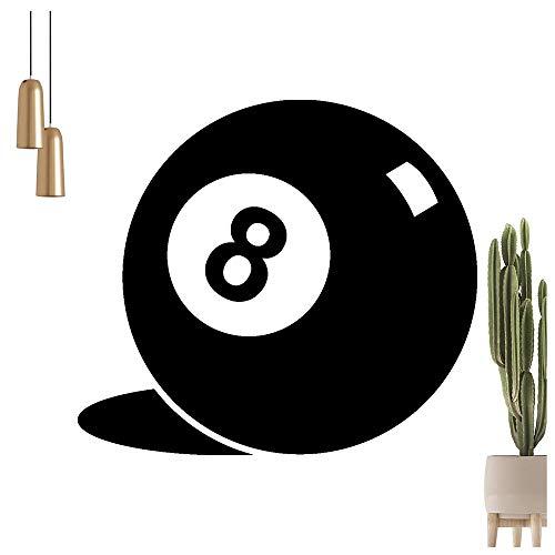 Billard Kugel 8 Wandtattoo in 6 Größen - Wandaufkleber Wall Sticker