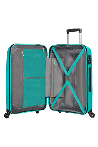 American Tourister Bon Air Spinner Valise, 75 cm, 91 L, Turquoise (Deep Turquoise)