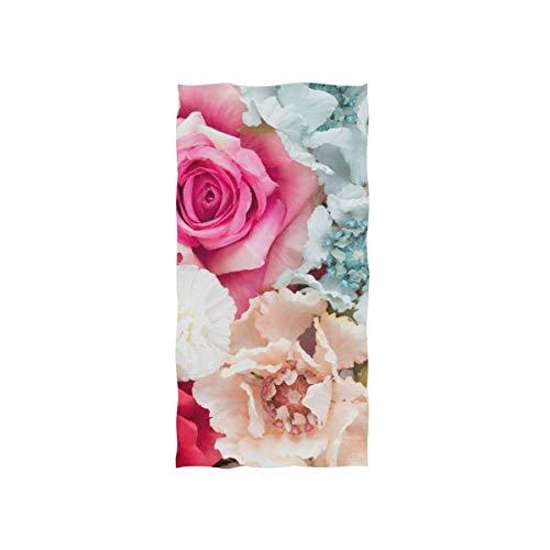 rodde Algodón de Toalla de Mano Tipo Flor para máxima suavidad y Agradable para la Piel, 30x15 Pulgadas