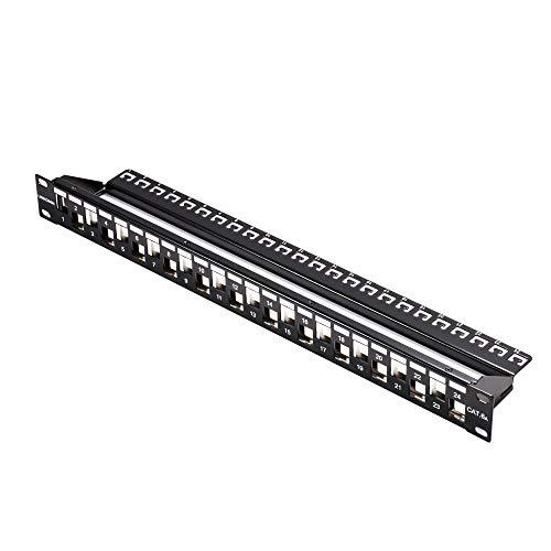 LINKOMM RJ45 24-Port STP Shielded Blank Keystone Patch Panel