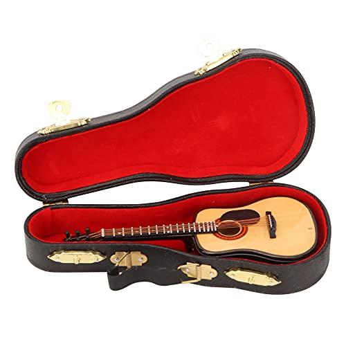 Faceuer Modelo de Guitarra en Miniatura, réplica de Guitarra Hermosa para Amantes de la música para Regalos de decoración de Escritorio