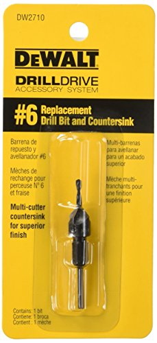 DEWALT DW2710 No.6 Replacement Drill Bit and Countersink
