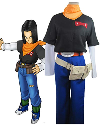 Dragon Ball Men's Android 17 Cosplay Costume (Man L) Black