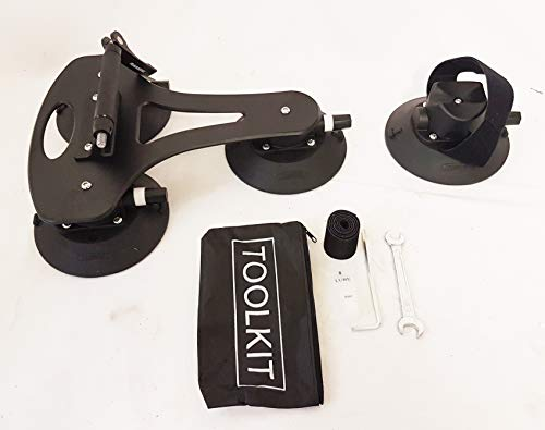 Rassine LXB5 - Portabicicletas para Techo, Color Negro, Talla 煤n