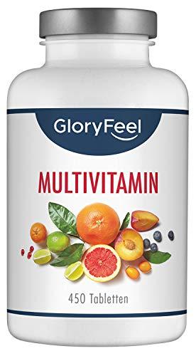 GloryFeel Multivitaminen | 450 capsules, voor 15 maanden |A-Z vitaminen | Veganistisch | Vervaardigd in Duitsland