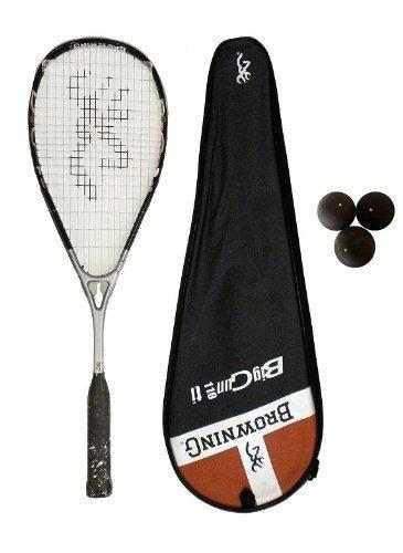 Browning Big Gun Ti 110 raqueta de Squash + 3 pelotas de Squ