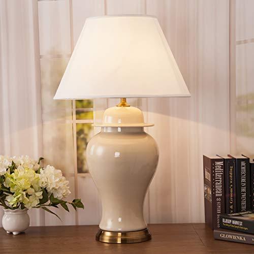 Lámpara de mesaLámpara de mesita de cama de cerámica de porcelana de estilo antiguo tradicional, gama completa de lámparas de mesa de cerámica B-67CM40CM