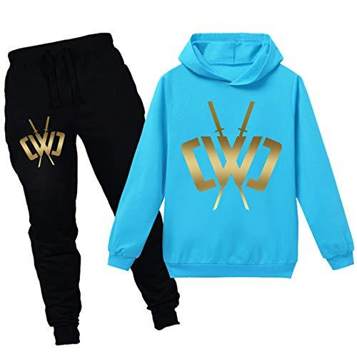 N/F Chad salvaje arcilla niños juego con capucha niñas suéter y pantalones conjunto CWC niños ropa deportiva Tops