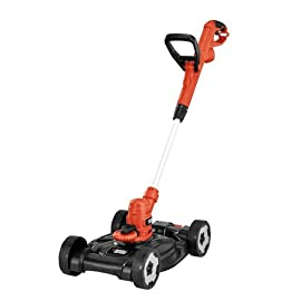 BLACK+DECKER 3-in-1 String Trimmer/Edger & Lawn Mower, 6.5-Amp, 12-Inch (MTE912) 1 AFS automatic feed system ensures continual work without bumping or having to stop Gear Drive transmission prevents bogging down Ideal Property Size: 750 feet. Charge Time at 100 percent 4 hrs. Charge Time at 60 percent 2.5 hrs