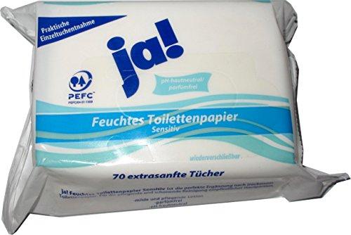 ja! Feuchtes Toilettenpapier Sensitiv (70)