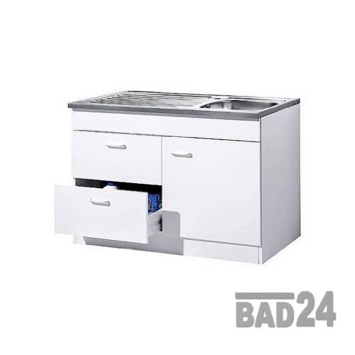 Küche-Spülenschrank/Mehrzweckschrank 100x60 Auszüge Start Melamin weiß/weiß
