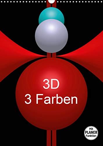 3D - 3 Farben (Wandkalender 2021 DIN A3 hoch)