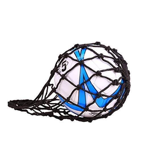 ZONSUSE Jiele Ballnetz, Netz Tasche, Balltasche aus Nylonnetz, für Fußball, Basketball, Volleyball, Rugbyball Balltragenetz Aufbewahrungstasche (Schwarz)