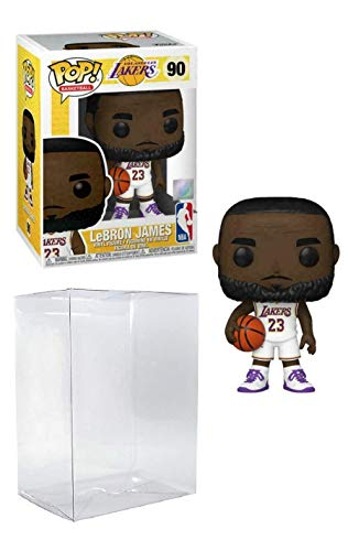 Lebron James Los Angeles Alternate Jersey #90 Pop Sports NBA Action Figure (Bundled with Pop Protector to Protect Display Box)