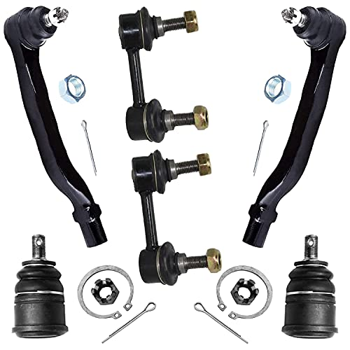 Detroit Axle - Complete 6-Piece Front Suspension Kit fit 1998-2002 Honda Accord 2.3L & 3.0L Both (2) Front Sway bar links, Both (2) Front Lower Ball Joint, Both (2) Outer Tie Rod Ends