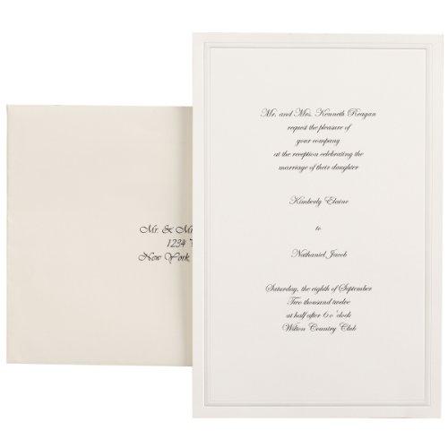 Wilton 100-Pack Single Border Invitation, Ivory (1008-1512)