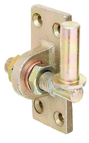 GAH-Alberts 318246 Kloben zum Anschrauben, verstellbar um 20 mm, galvanisch gelb verzinkt, Ø16 mm, 105 x 45 mm