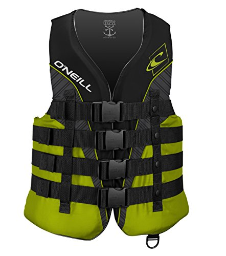 Lowest Prices! O'Neill Men's Superlite USCG Life Vest, Black/Lime/Smoke/Lime,XX-Large