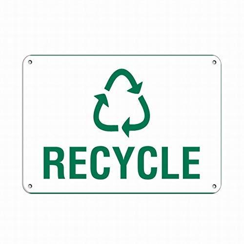 Cartel de Reciclaje de Metal con Texto en inglés Recycle Activity