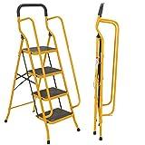 PHSH Klappbare 4 Stufen / 5 Stufen Sicherheitsleiter, Rutschfester Stufenleiter mit seitlichen...