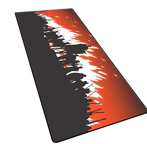 1STSPT 900X400mm anime cartoon muismat groot formaat rubber bodem anti-slip toetsenbord mat laptop home office geschenken muismat XL XXL, 900X400X3MM, strategie spel-1