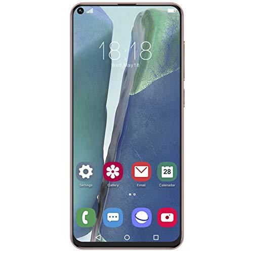 214 Smartphone, teléfono móvil con reconocimiento Facial de 6,72 Pulgadas, teléfono móvil con Doble Modo de Espera Note30UPro, para Android 6.0, Bronze 1 + 8G 100‑240V(EU)
