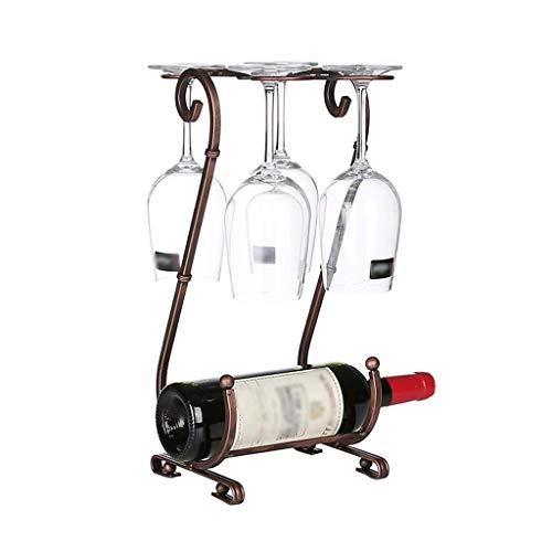 XUSHEN-HU Estante del Vino de la Botella de Vino en Rack Inicio Creative Estante del Vino revés Estante del Vino Copa de Vino del Metal de Moda en Rack Decoración Hogar