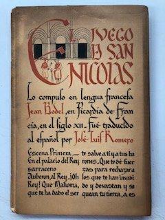 El juego de San Nicolás. Trad. José Luis Romero
