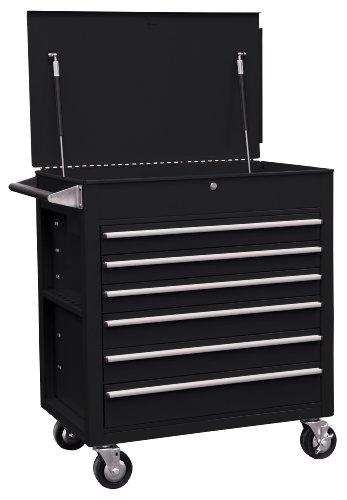 Sunex 8057BK Premium Full Drawer Service Cart- Black