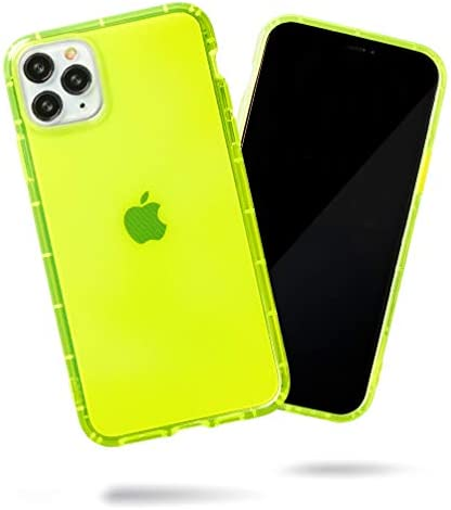 SteepLab Neon Highlighter Case for iPhone 11 Pro Max (2019, 6.5″ Screen) – The Grippy Jelly Case w/Protective Air Pockets (Conspicuous Neon Yellow)