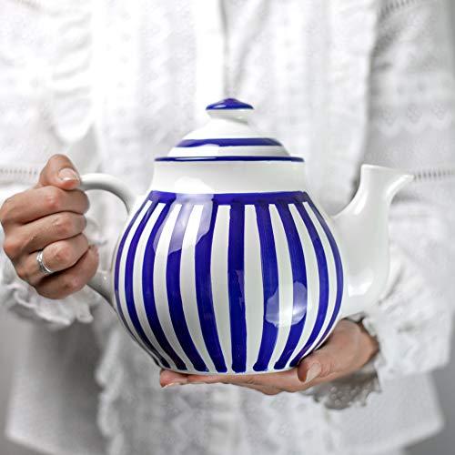 Regalo Dise/ño de Lunares City to Cottage/® Cer/ámica en Azul Celeste y Blanco Set de 4 Tazas de Caf/é Espresso Hecha y Pintada a Mano Cer/ámica Esmaltada 2oz//60ml