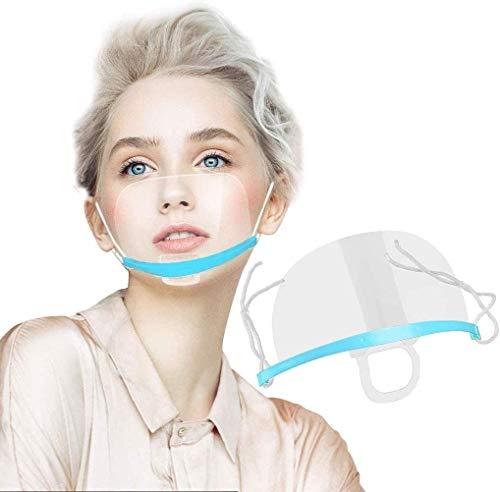 Tatopa 10 x Gesichtsvisier aus Kunststoff Schutzvisier Safety Gesichtsschutzschild Visier Gesichtsschutz Plexiglas Transparent Schutzvisier Mundschutz Plastik Gesichtsschutzschirm Face Shield (Blau)