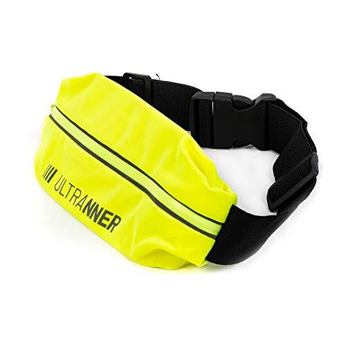 Ultranner Makalu - Cinturón Unisex Running Ajustable de Neopreno Amarillo para Móvil y Otros Objetos